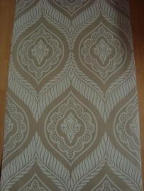 barok behang vinyl creme wit 110