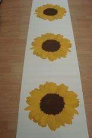 geel creme zonnebloemen vlies behang 14