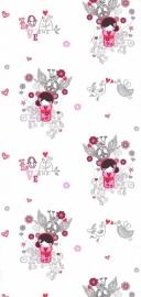 Noordwand Les Aventures 51137403 GEISHA BEHANG meisjes behang sterretje hartjes