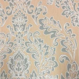 oud groen barok behang vintage 181-02