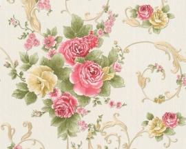 Behang Bloemen wit kleurrijke AS Romantica 30647-3