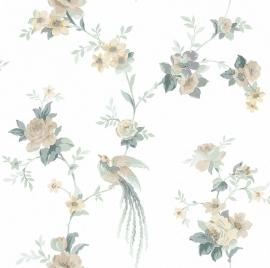 Rasch Sophie Charlotte 440614 bloemen paradijsvogel vliesbehang