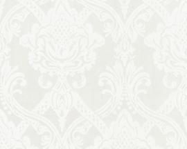 5549-32 wit metalic parelmoer barok vlies behang