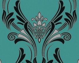 AS Création groen barok glitter behang 9570-33 95703-3