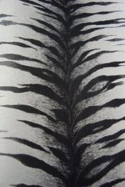 tijgerprint zwart wit grijs dieren print vlies behang 82