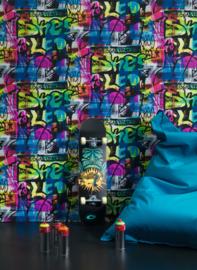 GRAFFITI BEHANG - Rasch Kids & Teens 2 291506