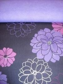 paars zwart modern behang 145