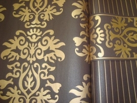 bruin behang barok 13