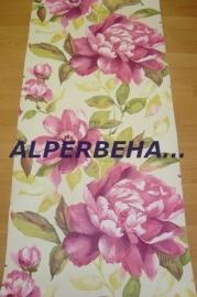 rood roze bloemen behang 13023