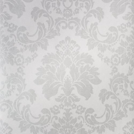 barok vlies behang grijs metalic 26144 juvita