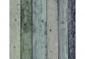 hout sloophout behang gekleurd 7328-3