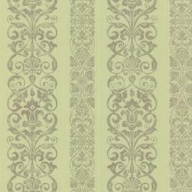 groen barok behang boudoir 62137