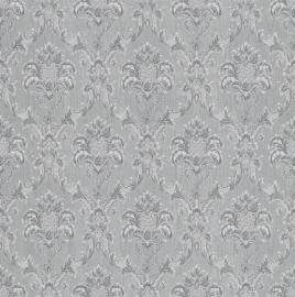 klassiek barok behang zilver grijs 147926