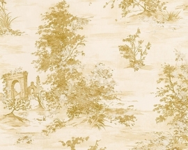Wallpaper natuur beige goud AS Romantica 30429-4