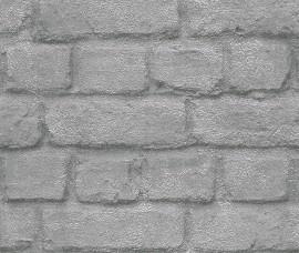 Rasch Kids Club 226751 Steen behang zilvergrijs