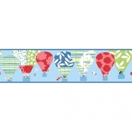 York Peek-a-Boo Hot Air Balloons Border YS9188BD
