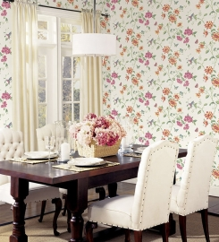 Norwall English Florals bloemen behang G34300