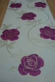 paarsgoud  creme bloemen modern behang 91