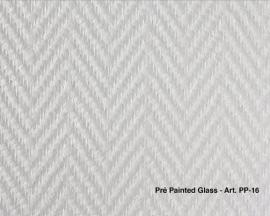 Intervos Wall-Structure PP-16 Glasvlies Pre-Painted visgraat fijn 50x1M