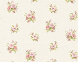 Engelse bloemen roosjes bloemetjes behang x58