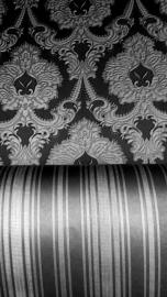 barok combi behang zwart grijs glim xx82