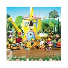 Walltastic - Fifi and the Flowertots  groen geel blauw fotowand