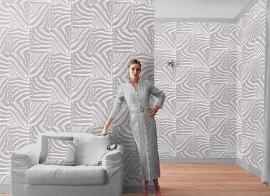 grijs zebraprint afrika dieren print vlies behang 49