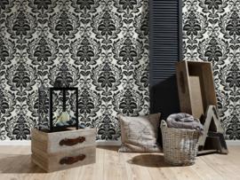 barok behang zwart wit vlies 255419