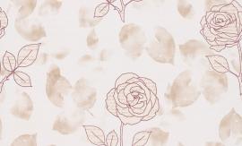 937474 La romantica roze creme behang