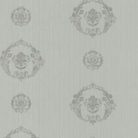 Grijs ornamenten behang 62172