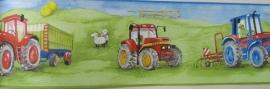 tractoren boerderij behangrand 255409