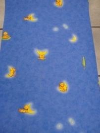 opruiming blauw geel beertjes en manen behang 56