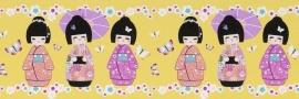 Rasch Kids Club 231922 Behangrand Geisha geel