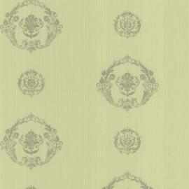 groen barok behang boudoir 62169