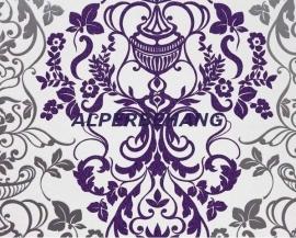 barok behang wit paars zilver x324