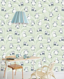Eijffinger Mini Me Wallpower Panda Palm Green 399120