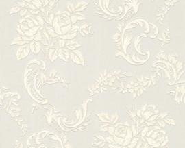 bloemen glitter behang bling bling creme 33867-1