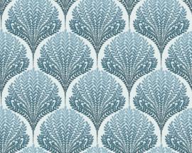 Retro behang blauw 36310-5