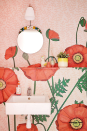 Eijffinger Rice 2 Wallpower 383609 Poppies Red
