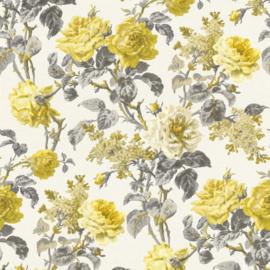Geel bloemen behang rasch 295800