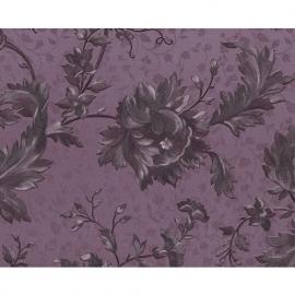 romantisch engels bloemen behang klassiek paars