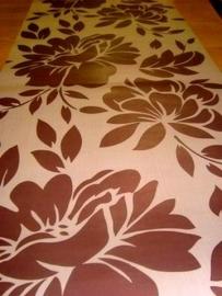 bruin vlies modern bloemen behang 32