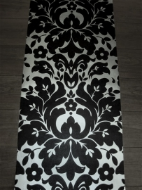 barok behang vinyl zwart zilver 02