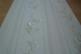 Klassiek behang beige creme bloemen behang 2