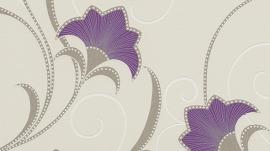 paars creme glitter bloemen behang Erismann 9727-09