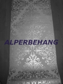 zilver wit barok vinyl 3d behang 97