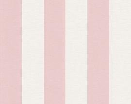 Strepen behang roze A.S. Création  31401-7