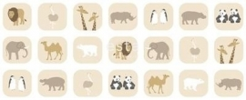 Esta For Kids Jimbo Pastel 185801 Stof Animals Beige