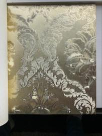 Barok behang zilver xx05