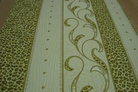 lime groen banen luipaardprint dieren print vinyl behang 60